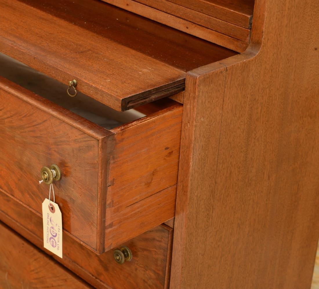 George III style mahogany bureau bookcase - 4