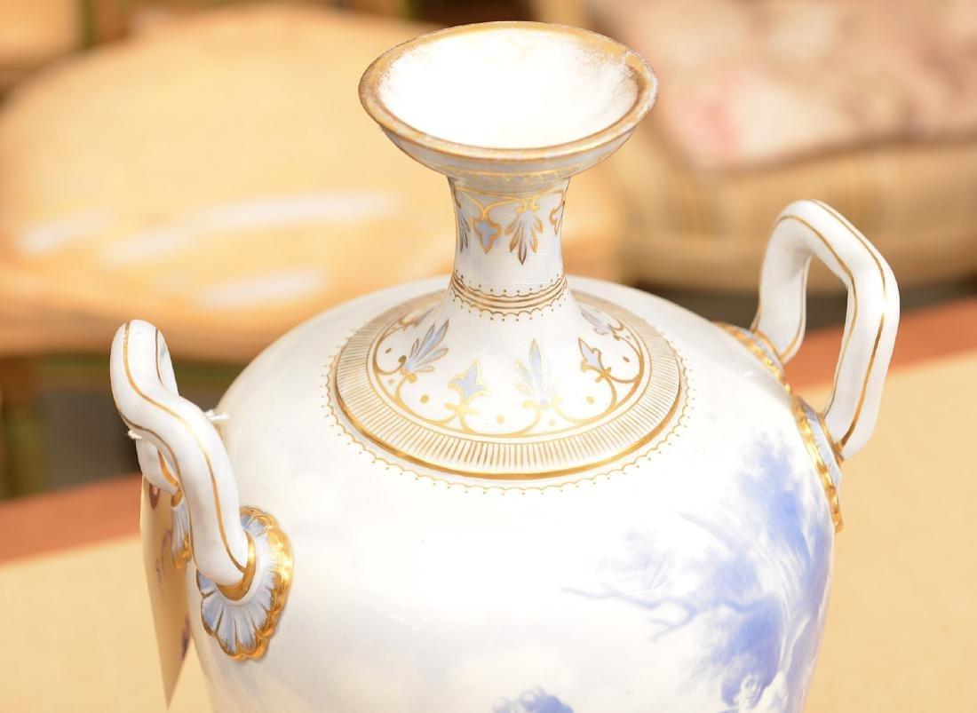 Large Royal Bonn blue/white porcelain urn - 2