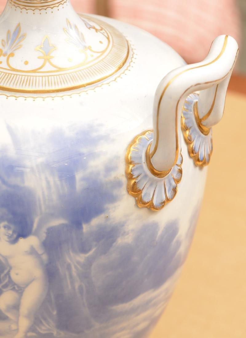Large Royal Bonn blue/white porcelain urn - 3