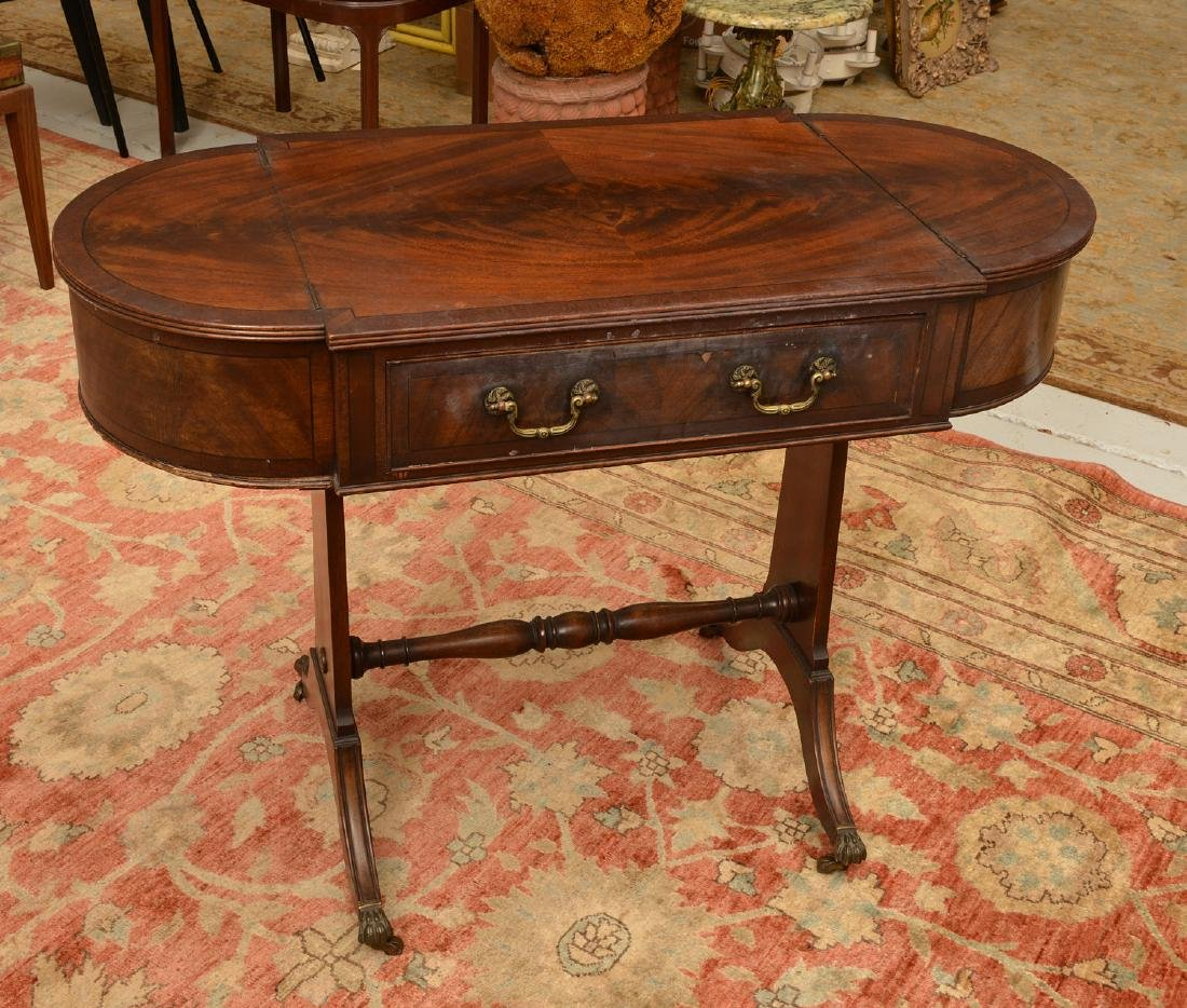 Antique George III style mahogany work table