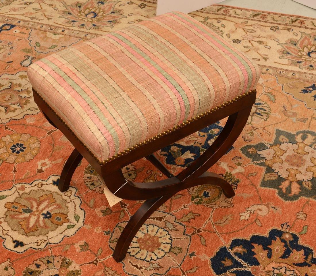 Regency style mahogany bench