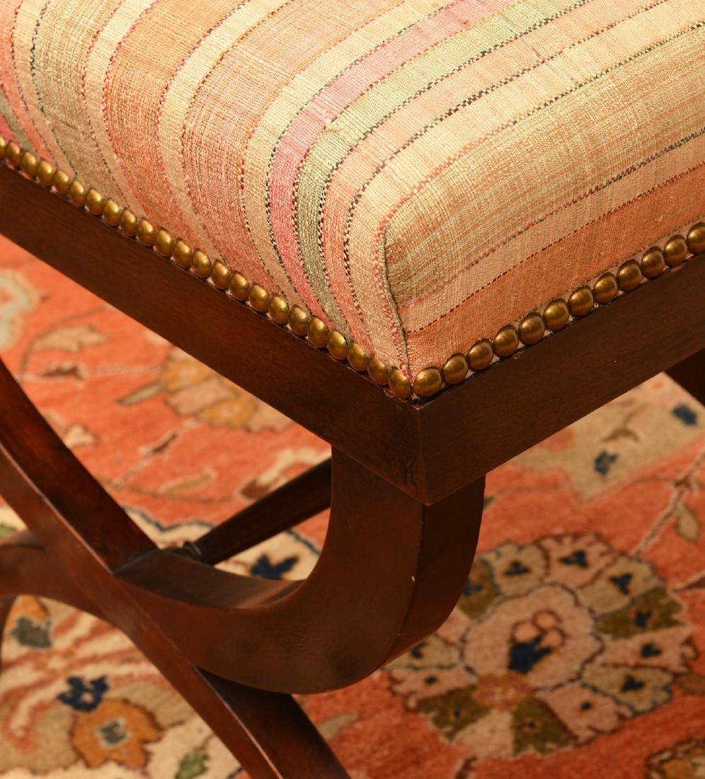 Regency style mahogany bench - 2