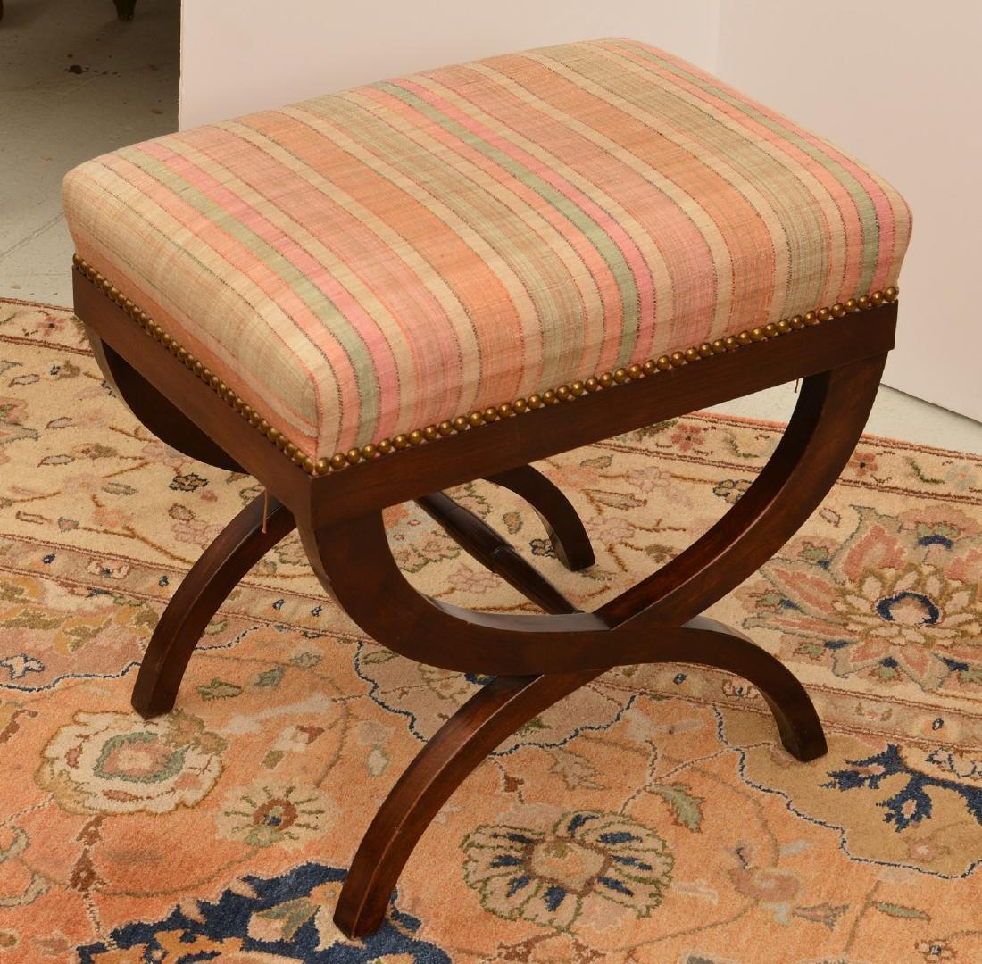 Regency style mahogany bench - 3