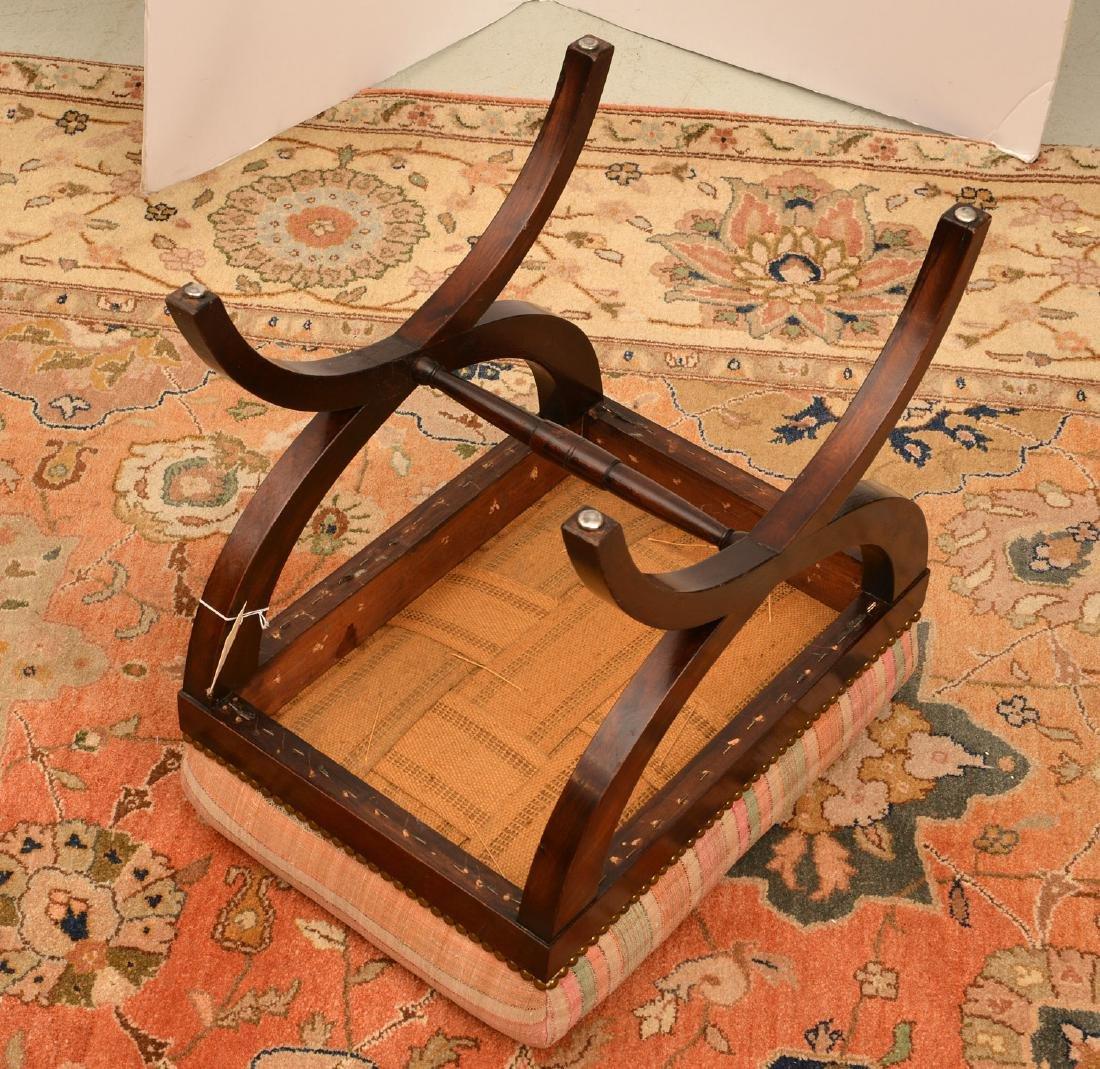 Regency style mahogany bench - 4