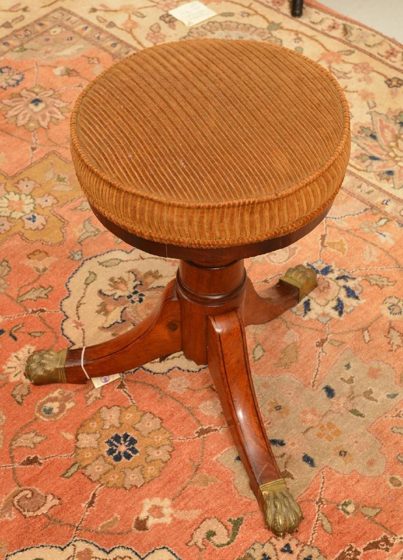 Nice Regency mahogany mahogany piano stool