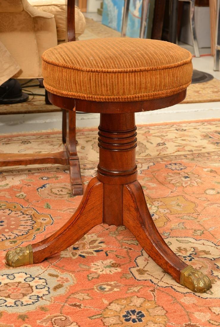 Nice Regency mahogany mahogany piano stool - 4