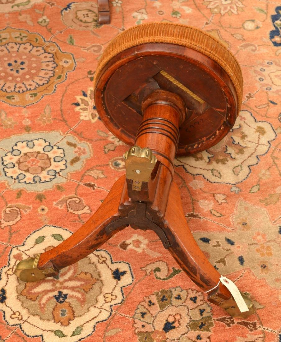 Nice Regency mahogany mahogany piano stool - 5