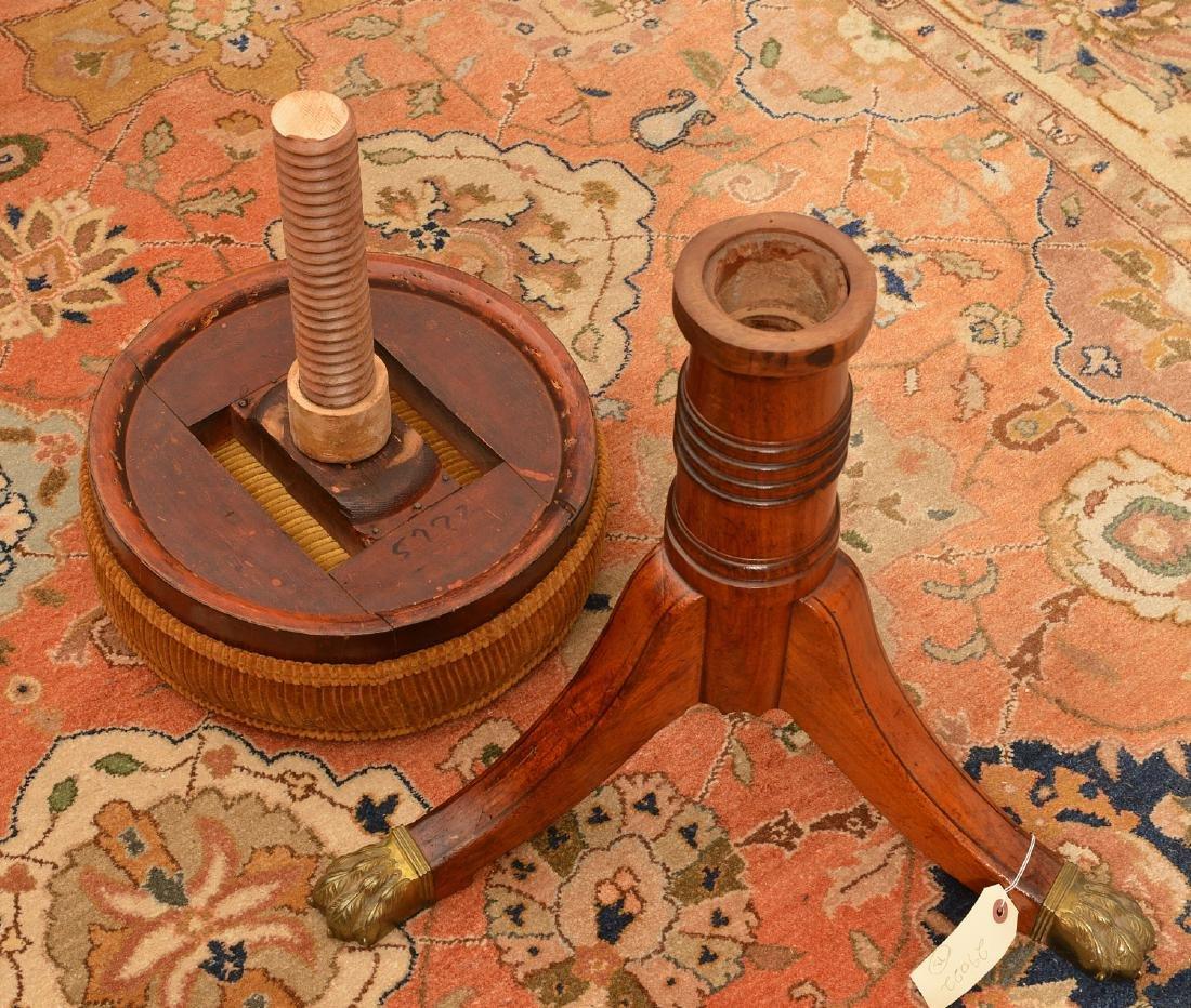 Nice Regency mahogany mahogany piano stool - 7