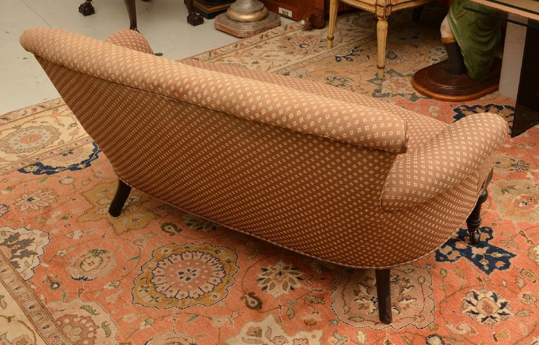 Napoleon III ebonized upholstered settee - 3