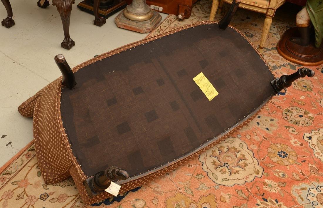 Napoleon III ebonized upholstered settee - 4