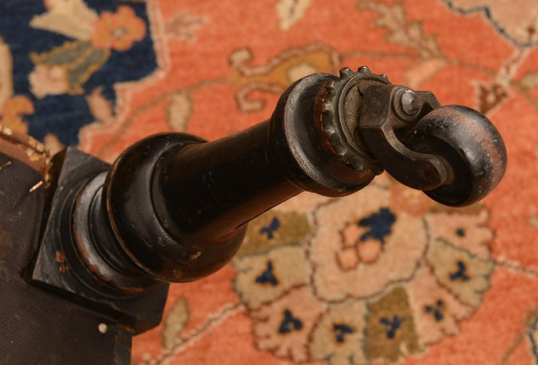 Napoleon III ebonized upholstered settee - 5