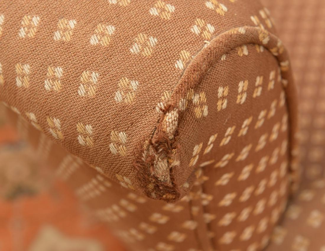 Napoleon III ebonized upholstered settee - 6
