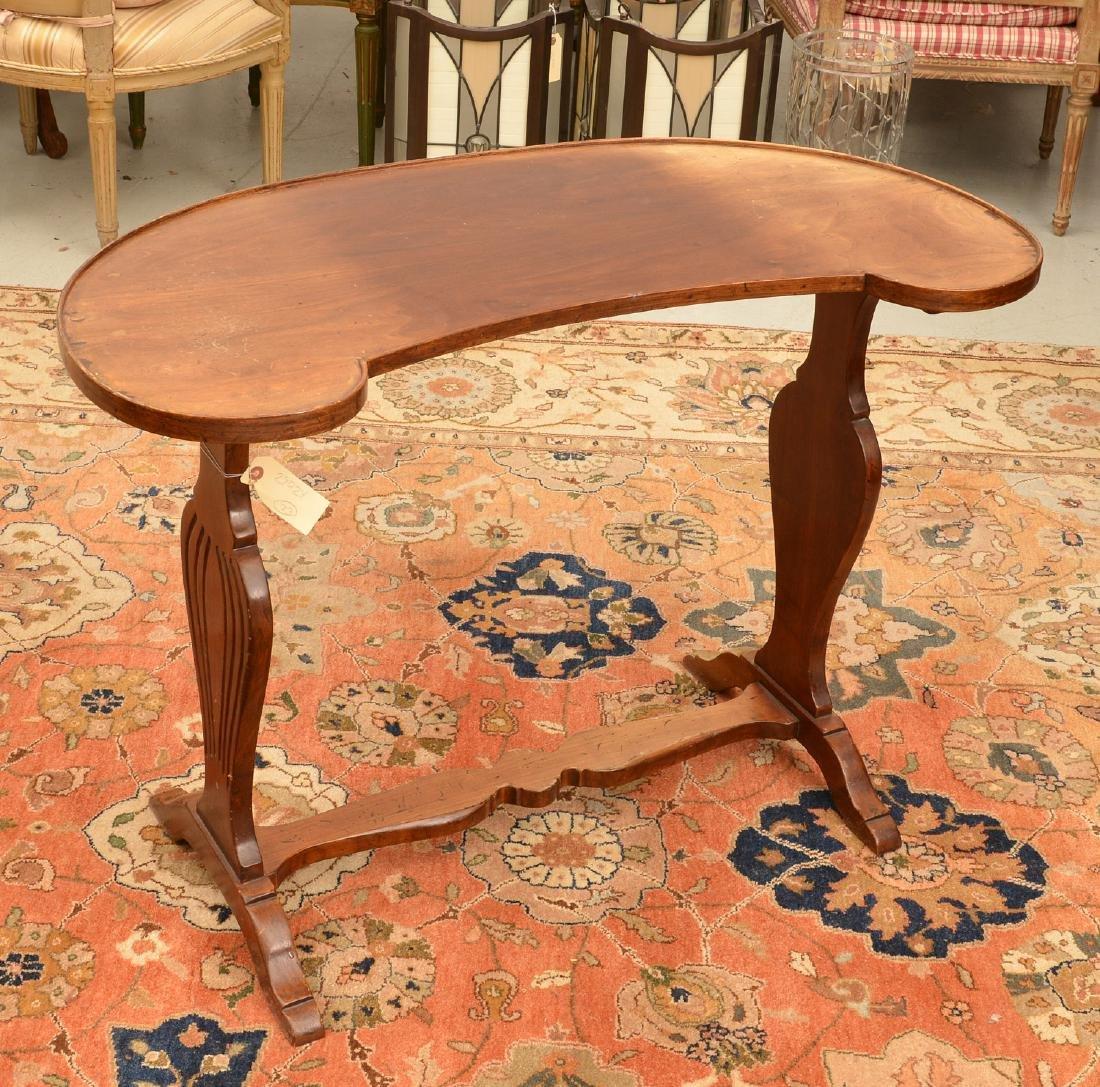 Italian kidney-shaped writing table