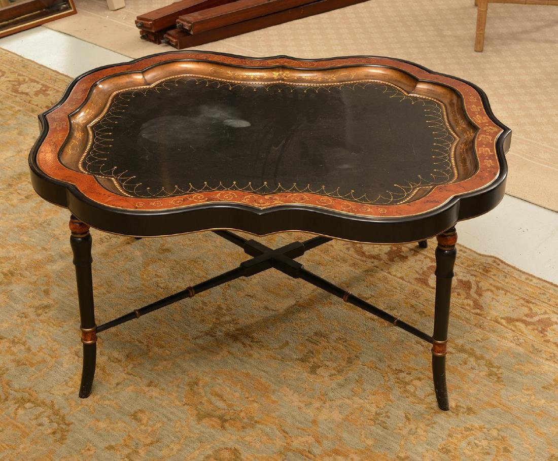 Victorian style papier mache tray table