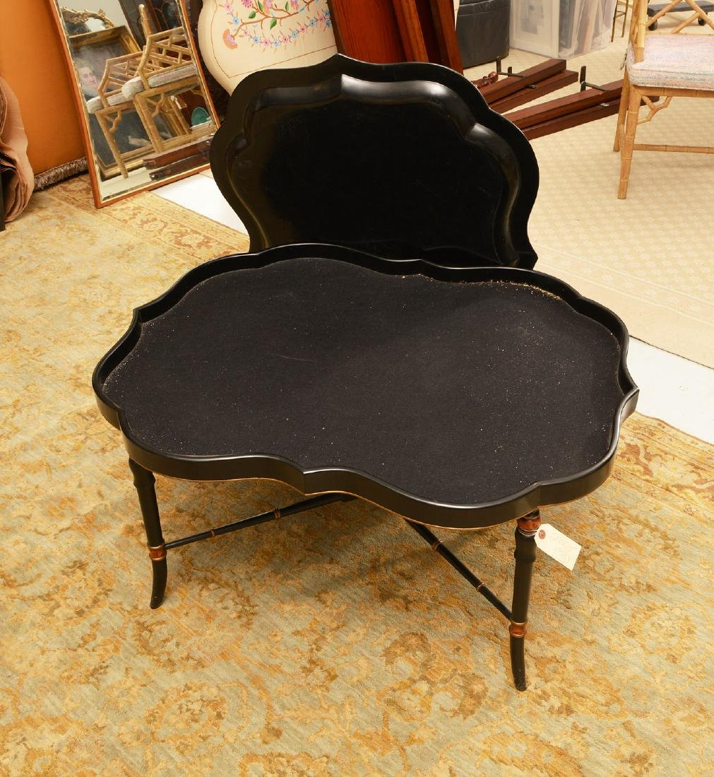 Victorian style papier mache tray table - 2