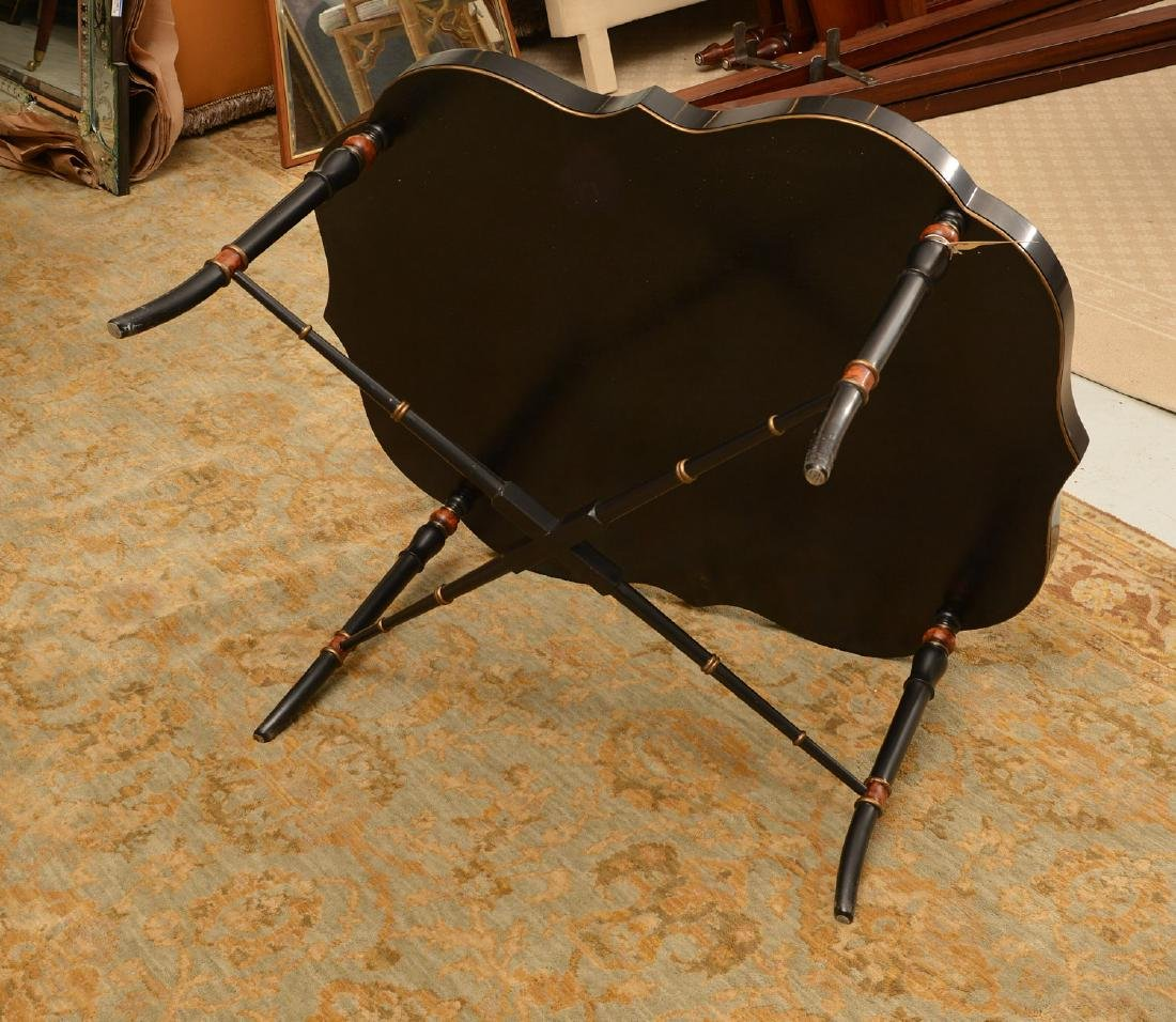 Victorian style papier mache tray table - 5