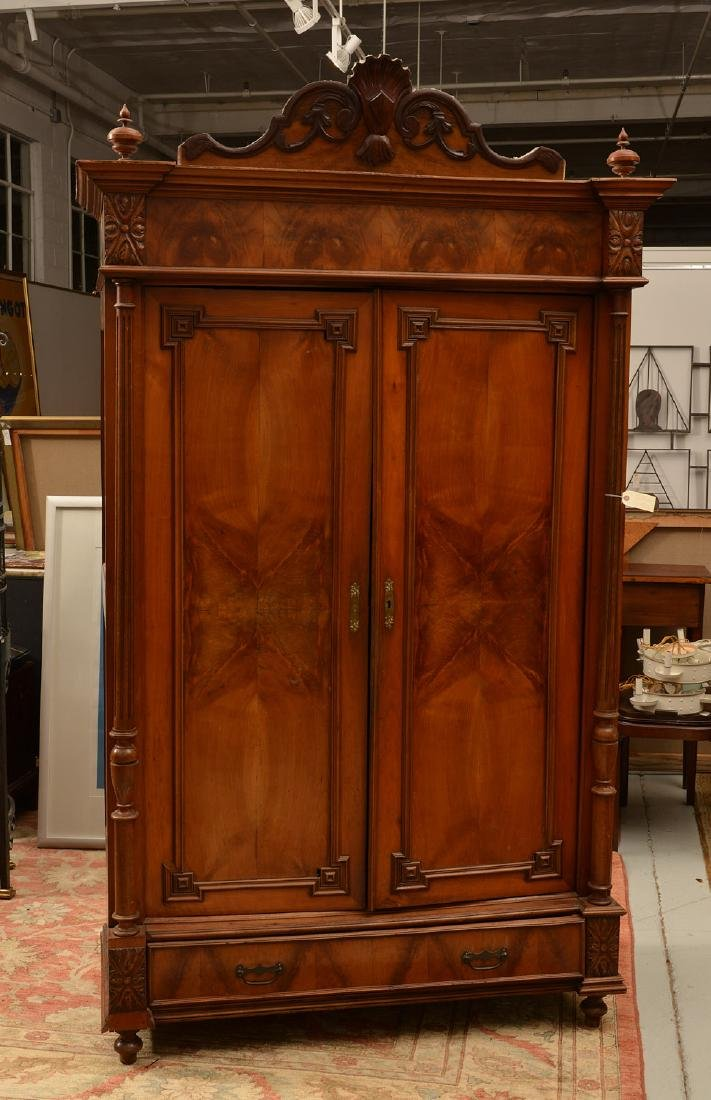 Continental Neo-Classical walnut armoire