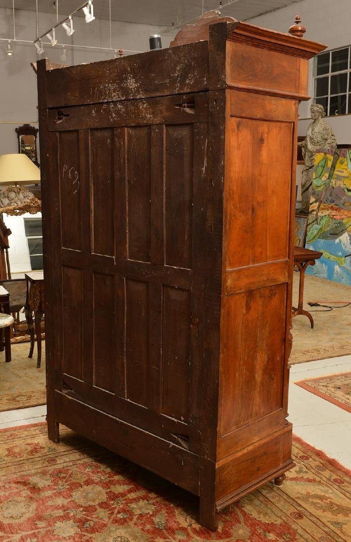 Continental Neo-Classical walnut armoire - 7