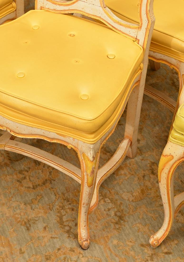 Set (6) Italian Rococo style painted dining chairs - 2