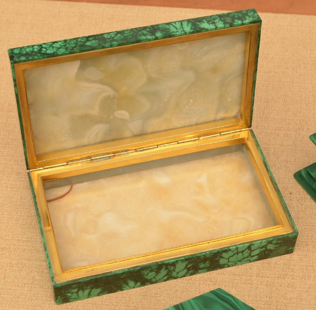 Malachite collection: boxes, obelisks, elephant - 4