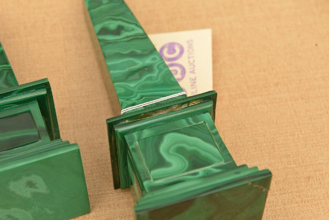 Malachite collection: boxes, obelisks, elephant - 6