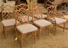 Set 6 Italian faux bamboo dining chairs