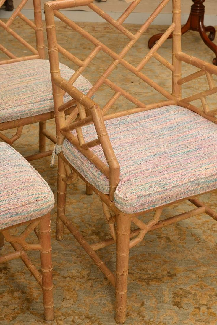 Set (6) Italian faux bamboo dining chairs - 2