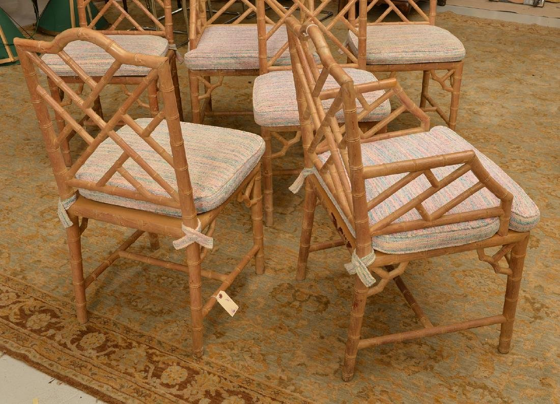Set (6) Italian faux bamboo dining chairs - 3
