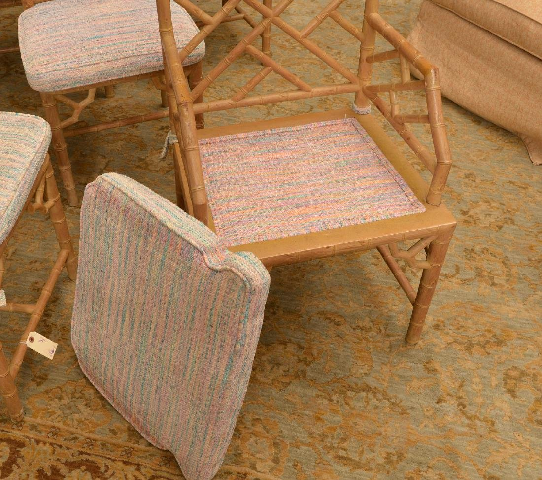 Set (6) Italian faux bamboo dining chairs - 4