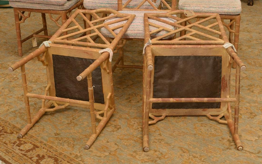 Set (6) Italian faux bamboo dining chairs - 5