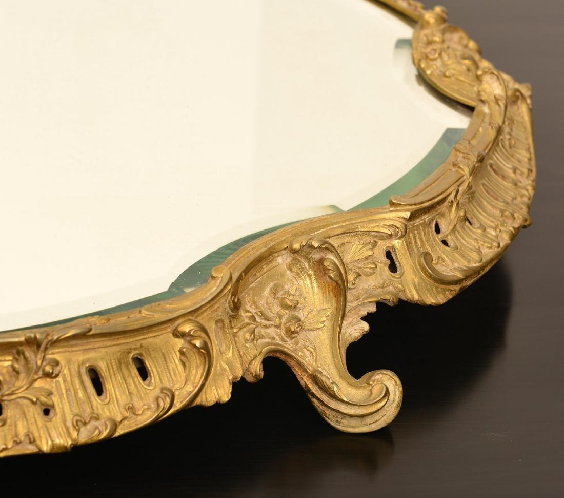 Napoleon III gilt bronze mirrored plateau - 2
