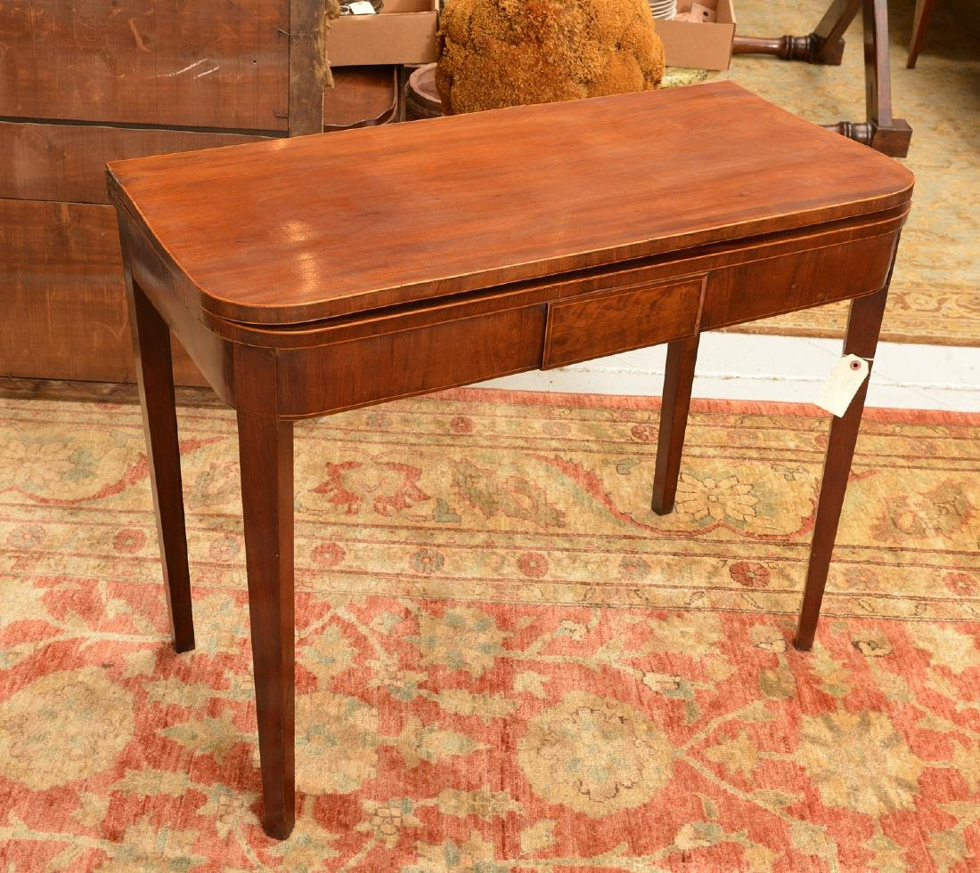 American Federal style mahogany inlaid games table