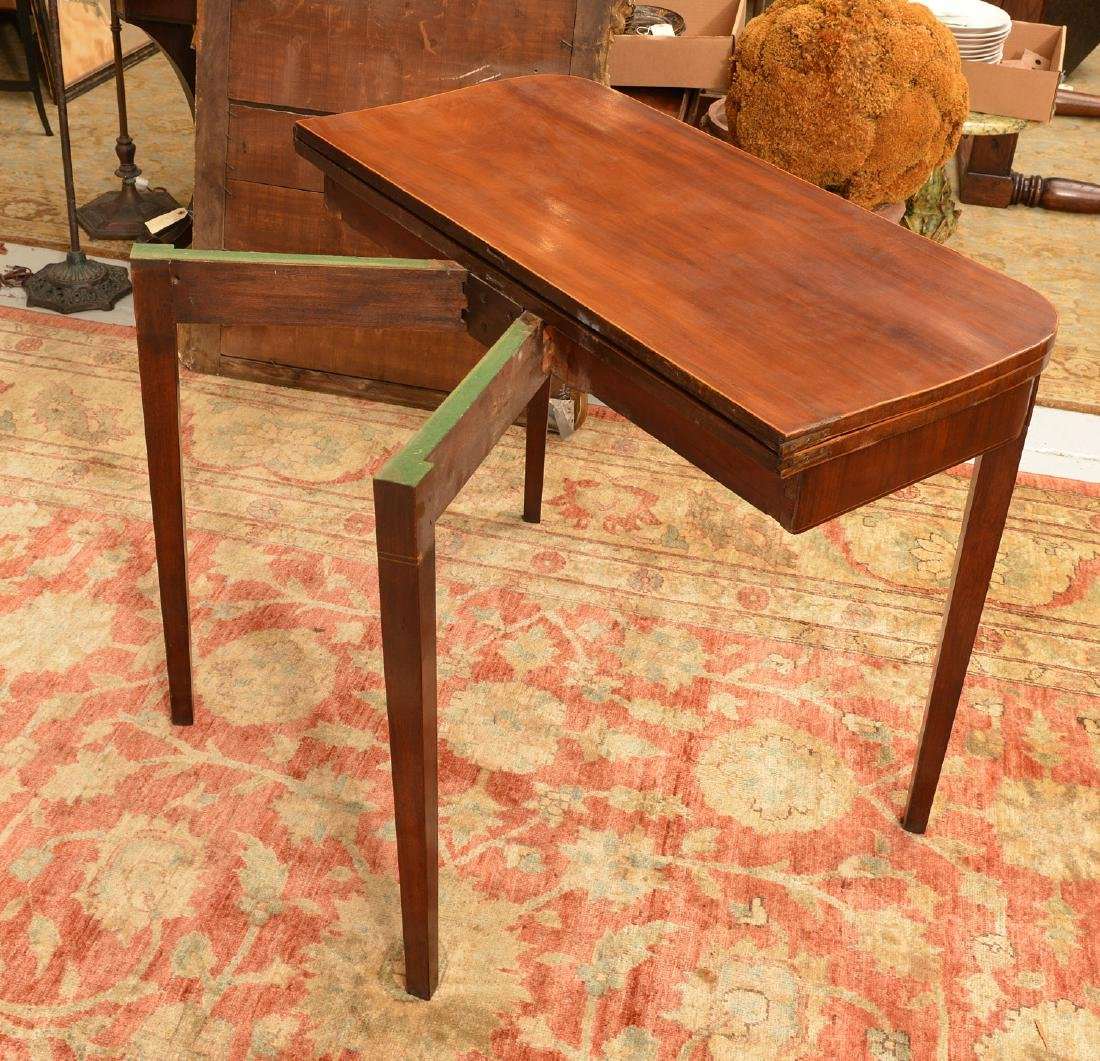 American Federal style mahogany inlaid games table - 2
