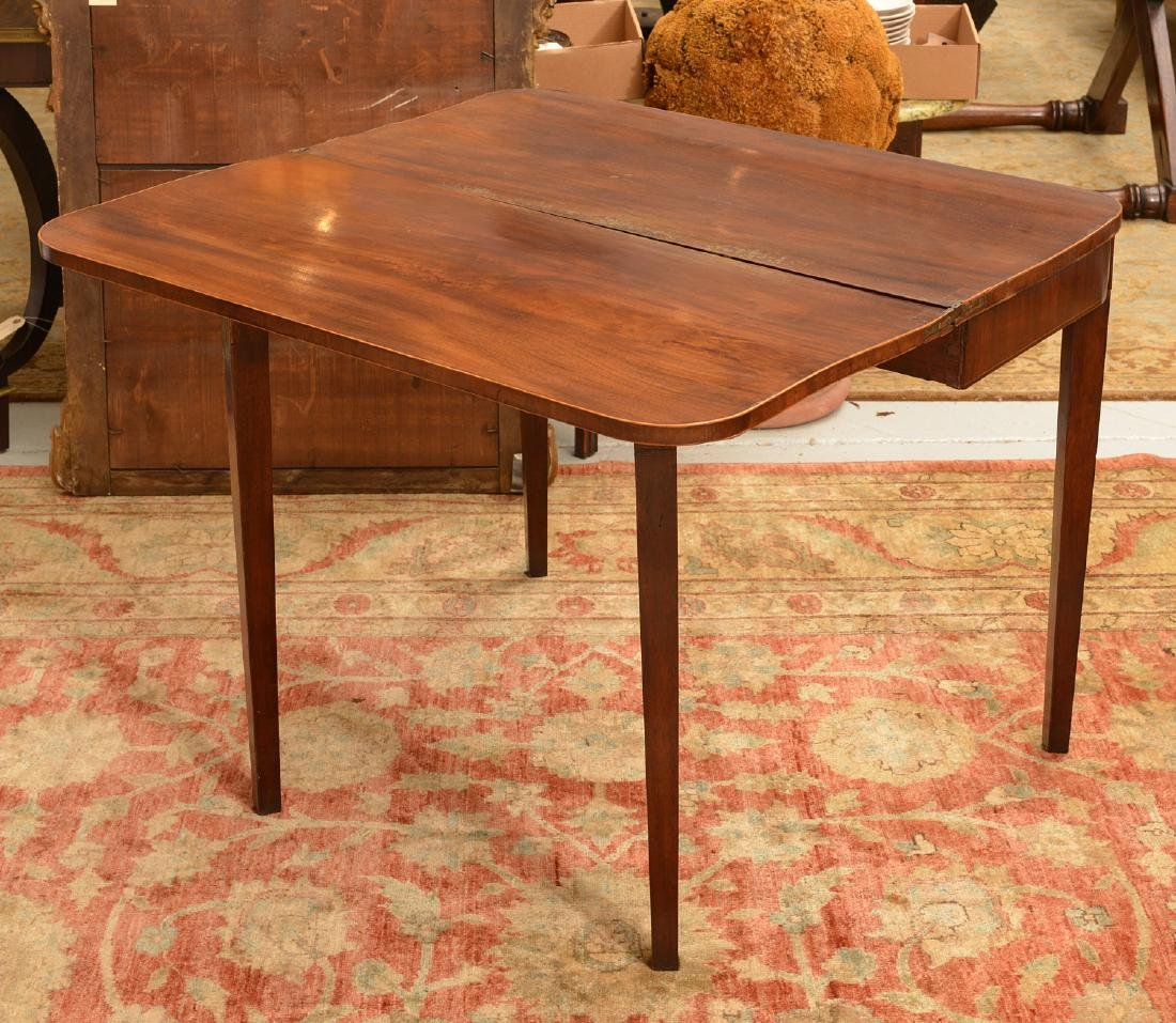 American Federal style mahogany inlaid games table - 3