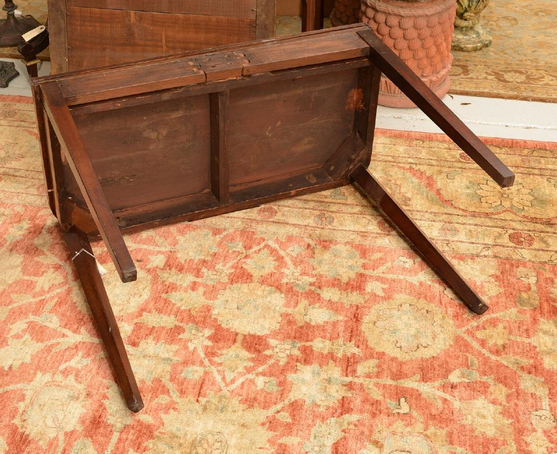 American Federal style mahogany inlaid games table - 4