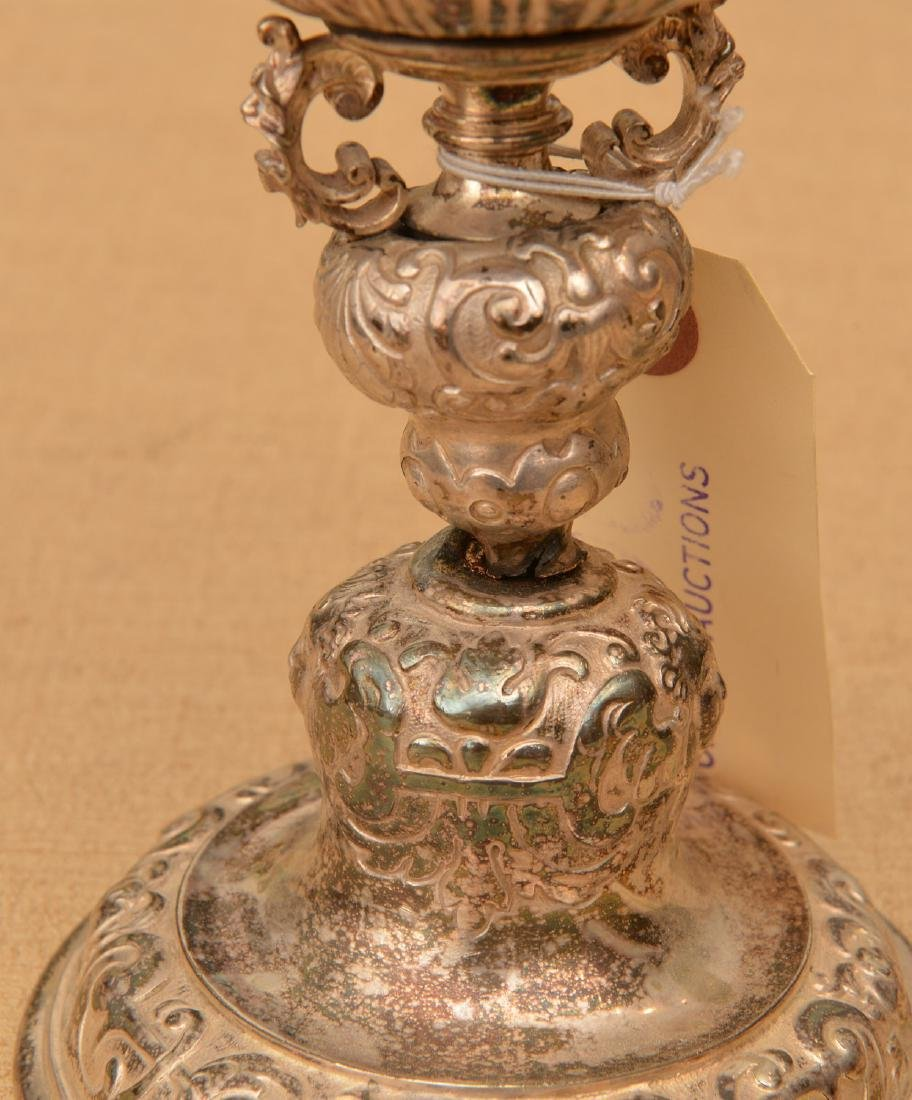 Continental Baroque style silver plated stem cup - 4
