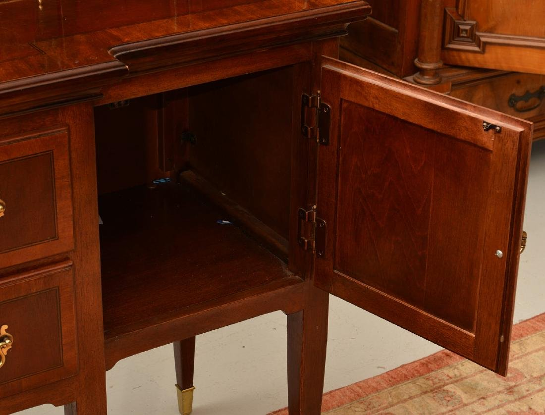 Georgian style sideboard with brass gallery - 4