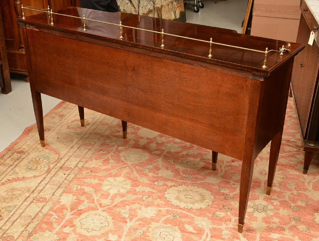 Georgian style sideboard with brass gallery - 6
