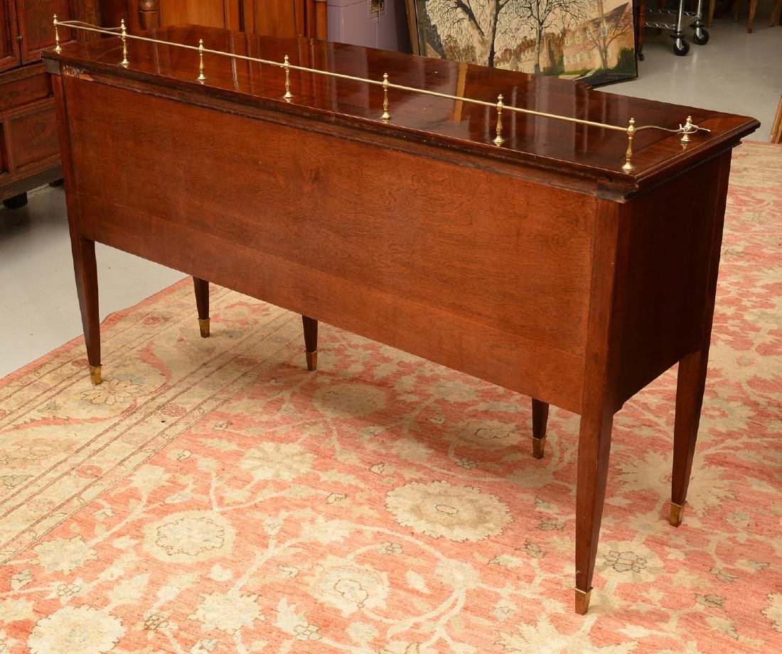Georgian style sideboard with brass gallery - 8