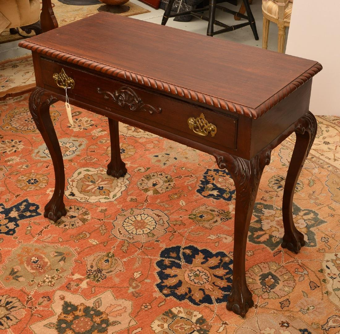 Antique Chippendale style mahogany side table - 2