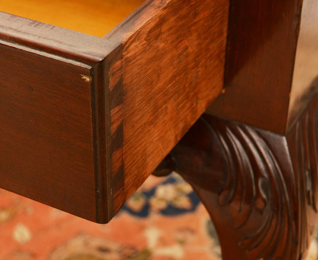 Antique Chippendale style mahogany side table - 4