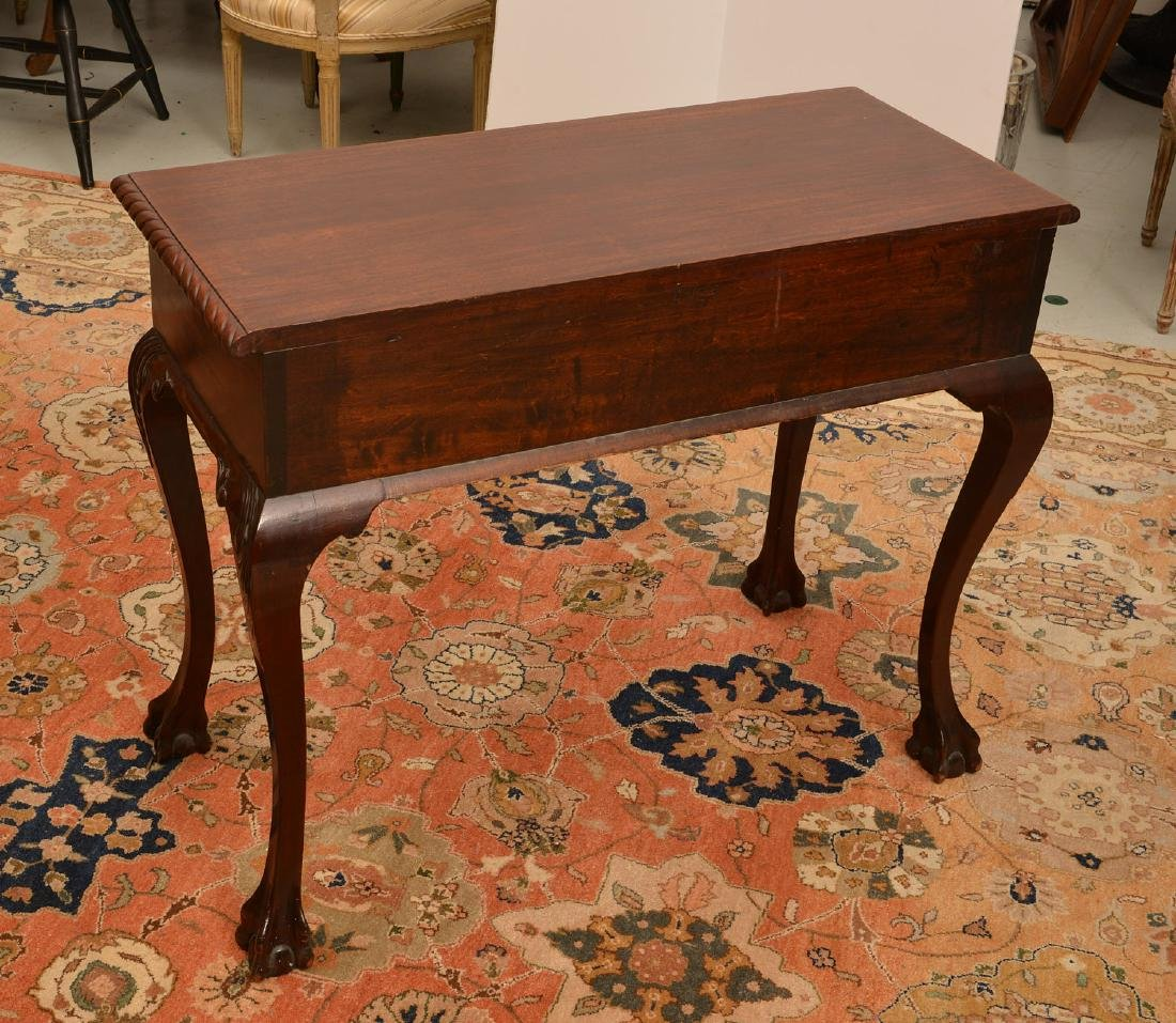 Antique Chippendale style mahogany side table - 5