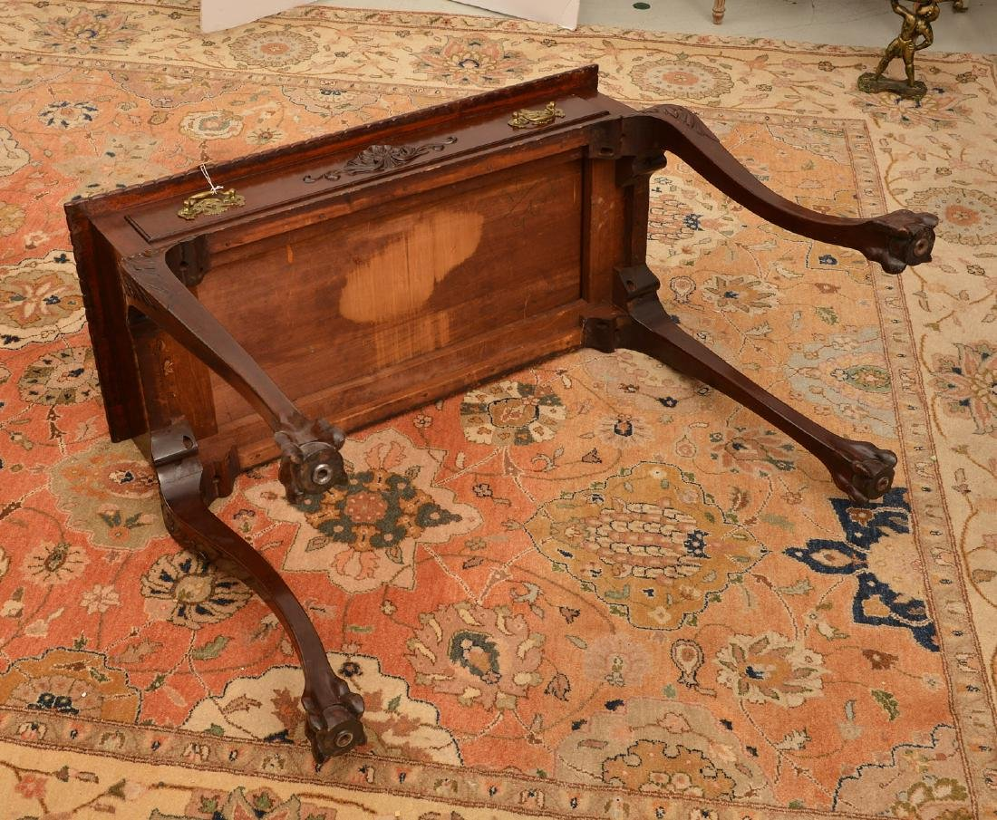 Antique Chippendale style mahogany side table - 6