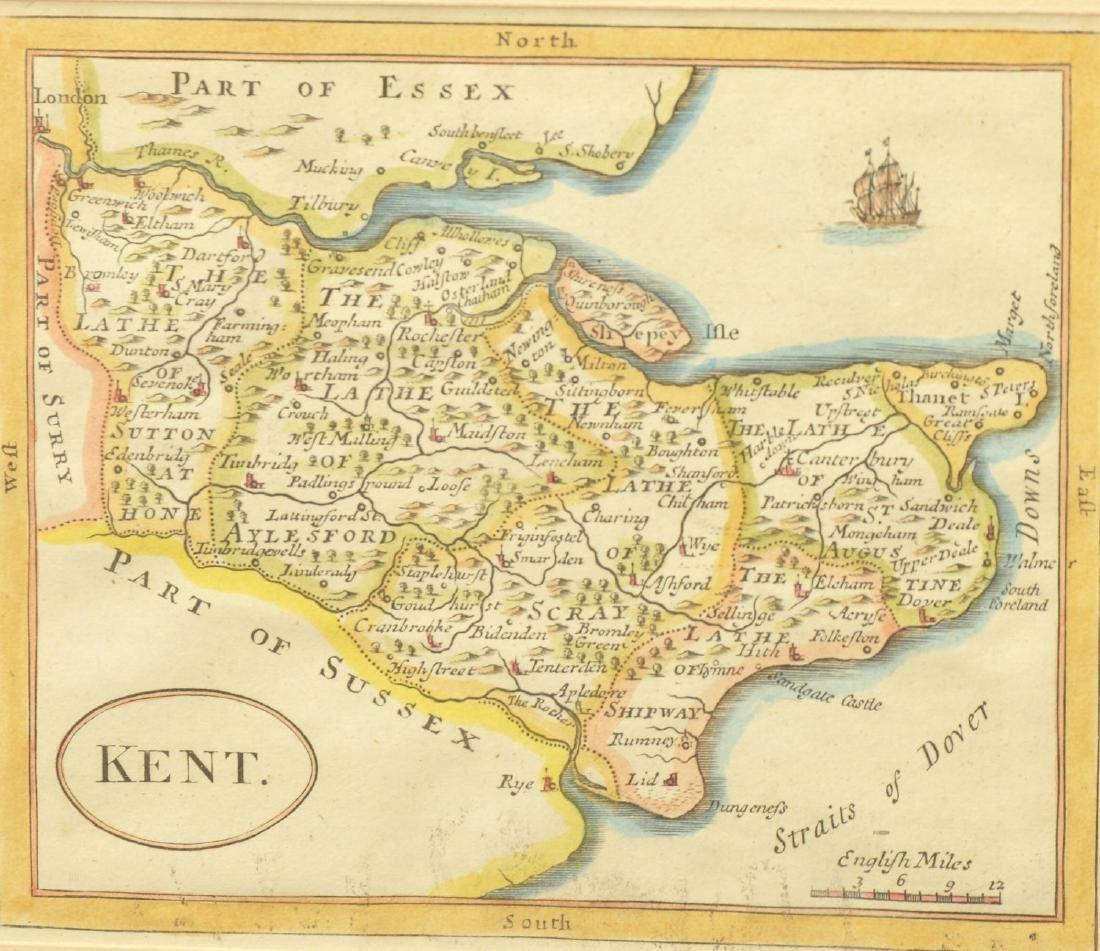 (3) antique and decorative Maps: Kent, Paris, NY - 2