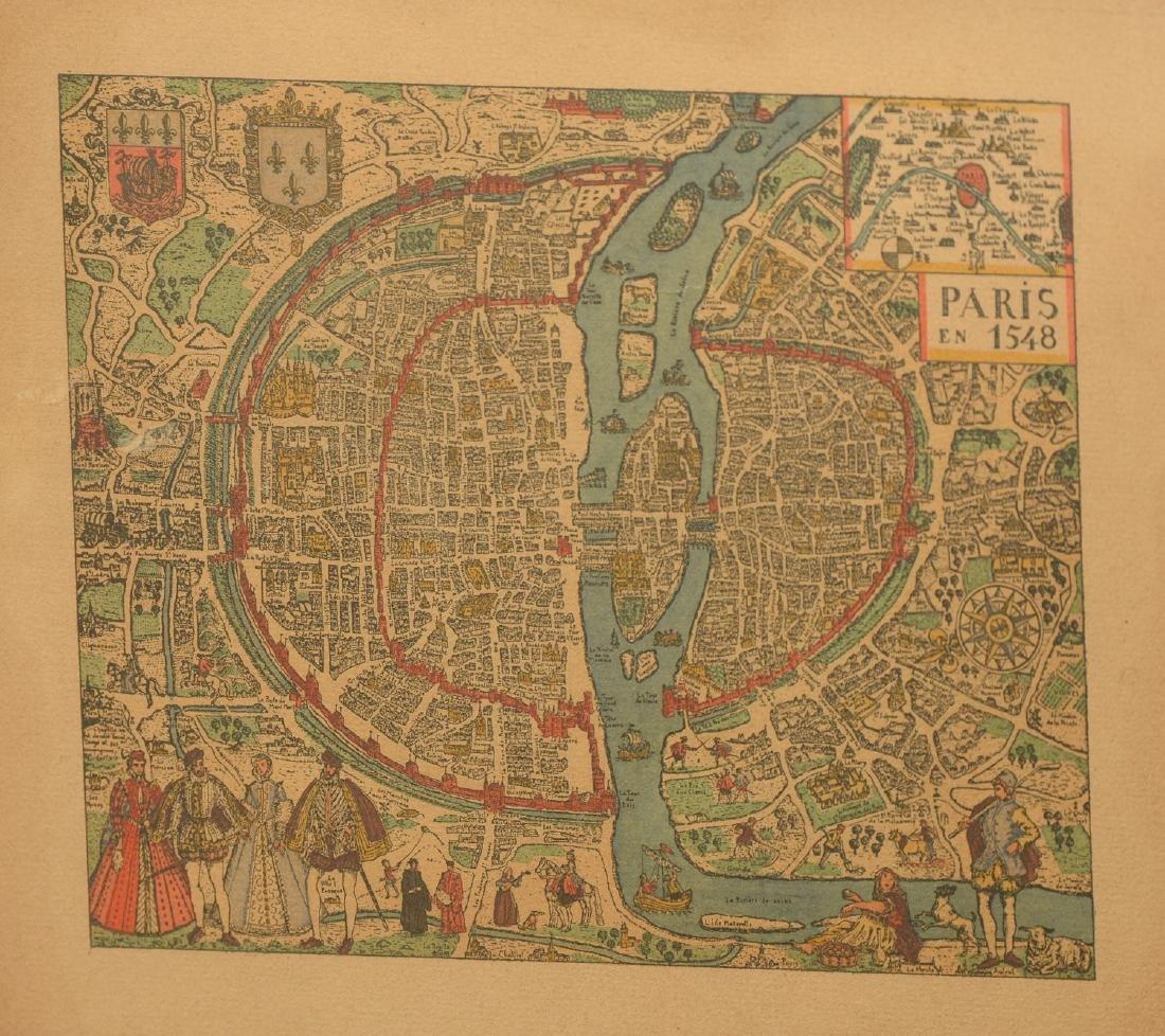 (3) antique and decorative Maps: Kent, Paris, NY - 6