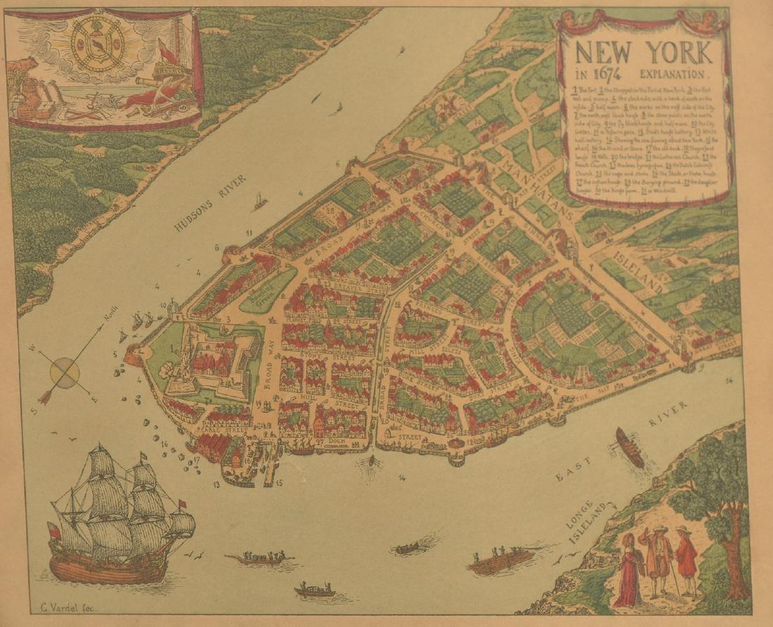 (3) antique and decorative Maps: Kent, Paris, NY - 7