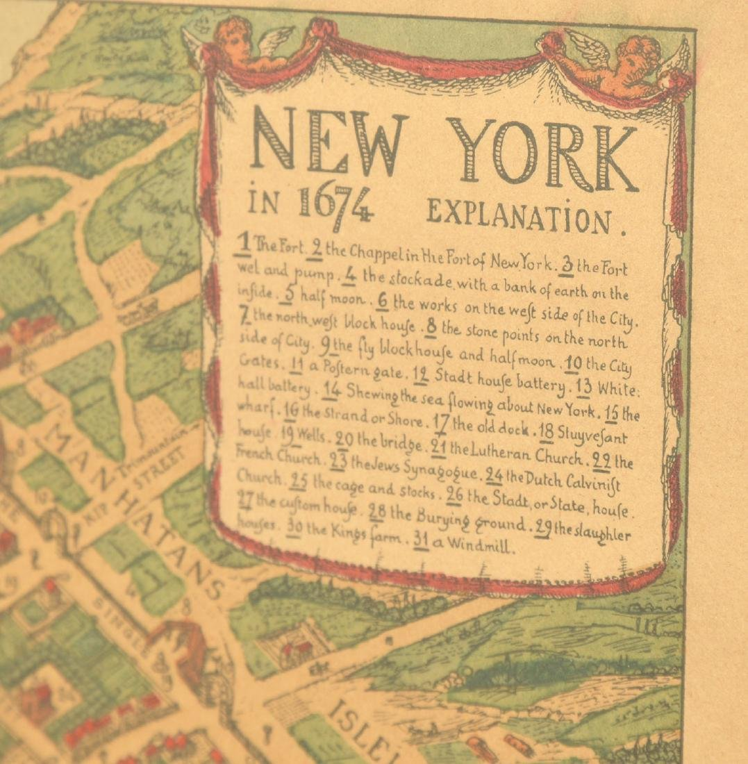 (3) antique and decorative Maps: Kent, Paris, NY - 8