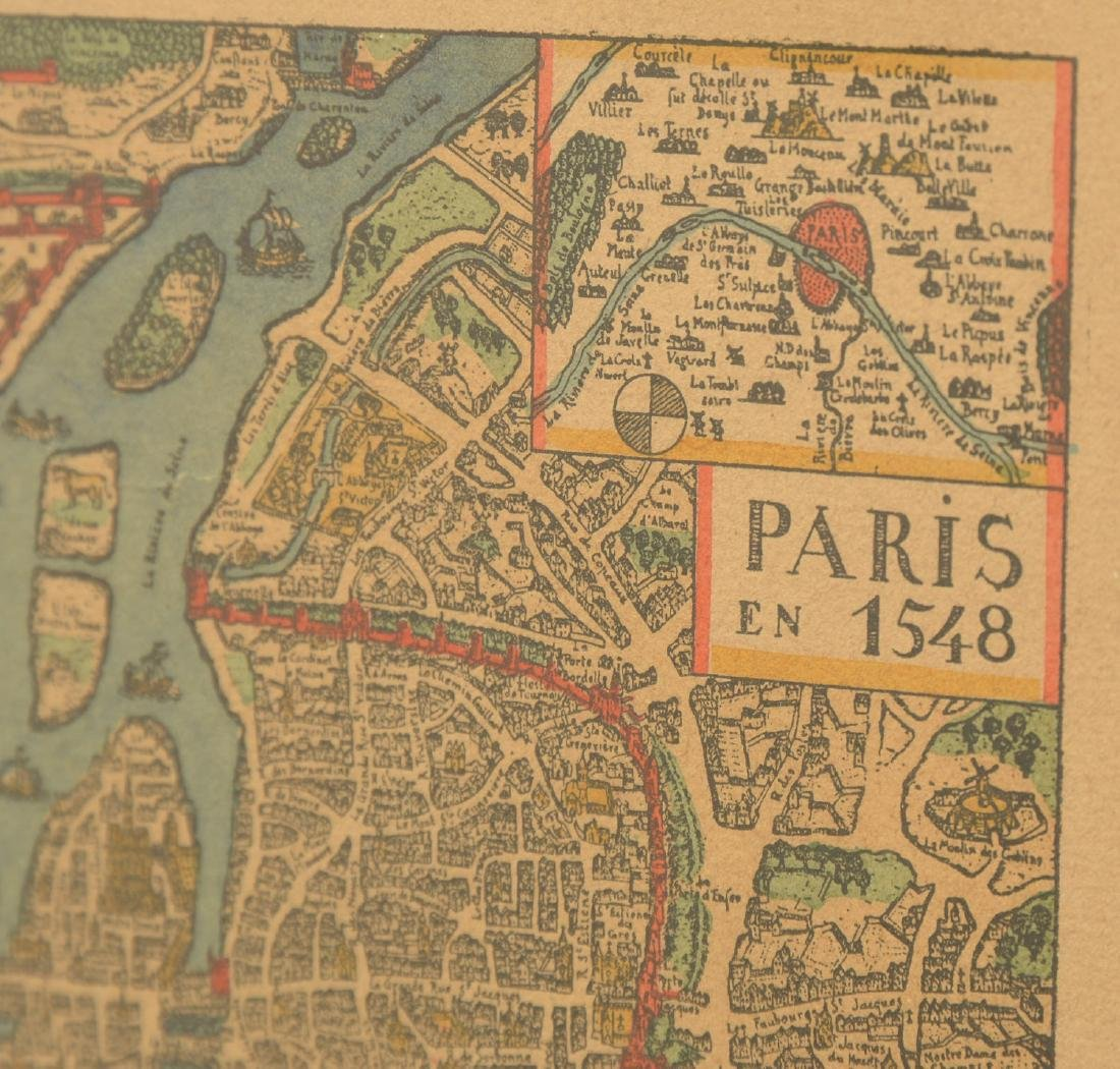 (3) antique and decorative Maps: Kent, Paris, NY - 9