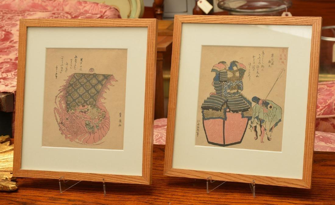 (2) Japanese woodcuts: Hiro and Hokusai