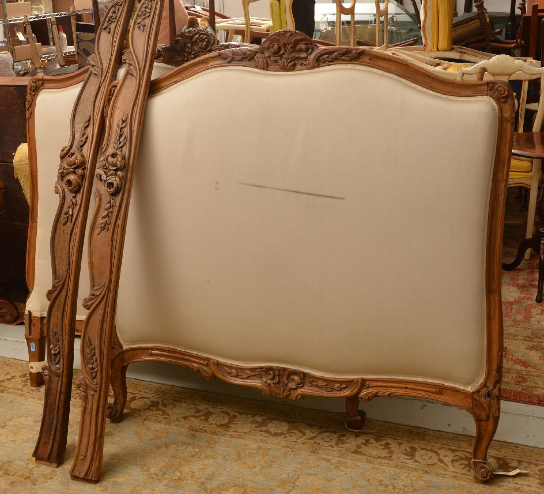 Louis XV carved fruitwood lit d'alcove (daybed)